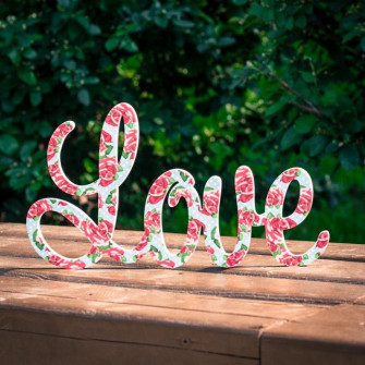 """Буквы на свадьбу - слово """"love"""" (с печатью)"""