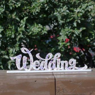 """Буквы на свадьбу - слово """"Wedding"""" (с печатью)"""