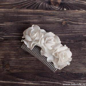 """Гребень для волос """"Цветы"""""""
