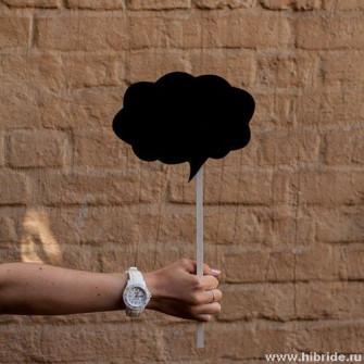 Меловая табличка для фотосессии - облако