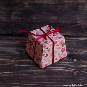 Бонбоньерка - розовый цветок