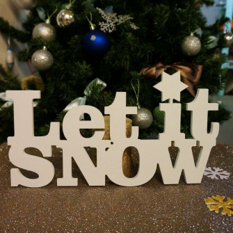 """Let it snow!"""