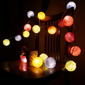 Гирлянда с фонариками (разные цвета)