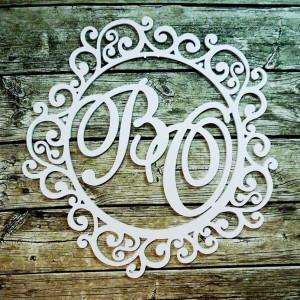 Свадебная монограмма из букв