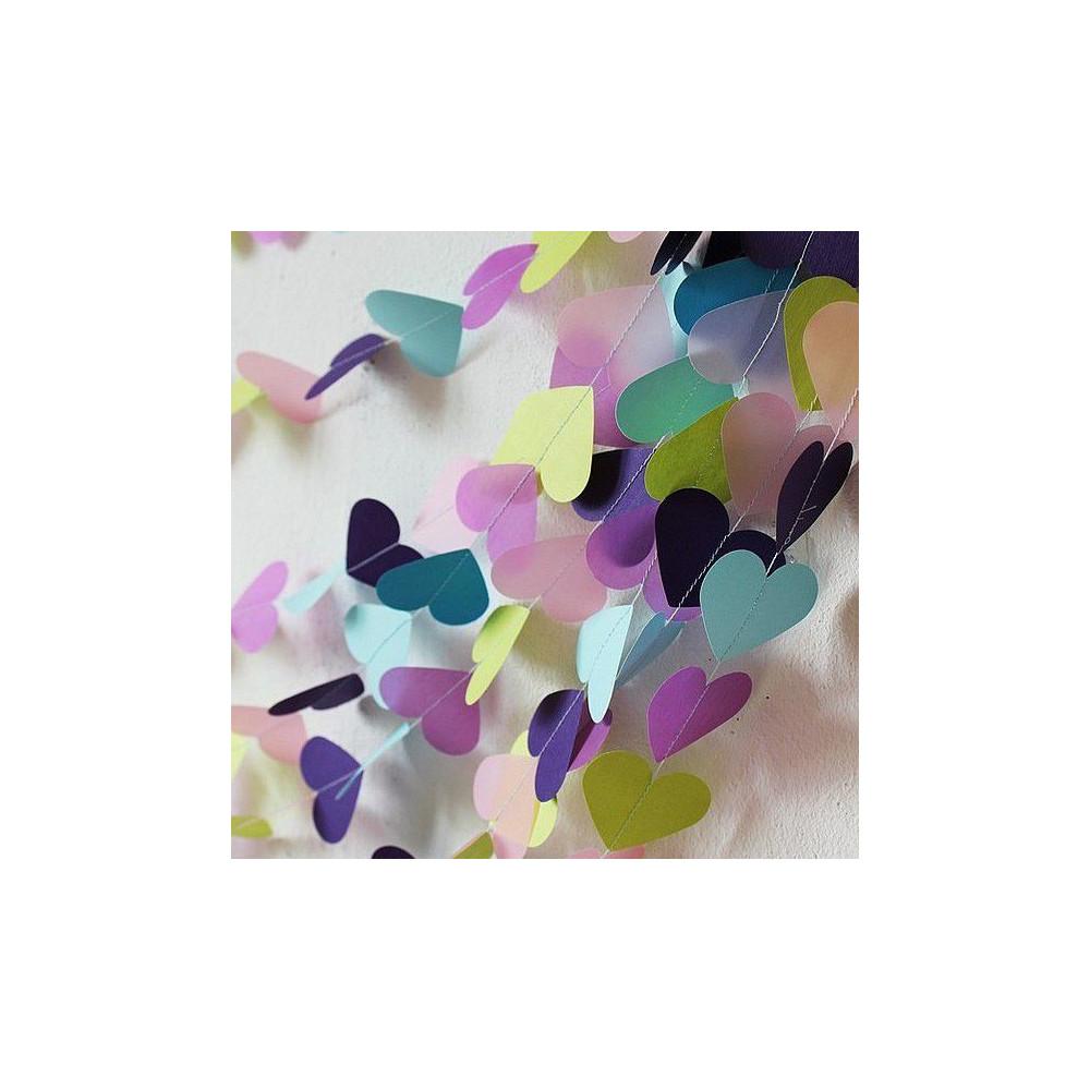 """Гирлянда из разноцветных сердечек """"Алиса""""  (5 метров)"""