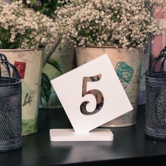 Набор номерков на стол (вар.4) - 5 штук