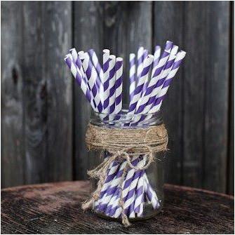 Трубочки для декора свадьбы (фиолетовый цвет)