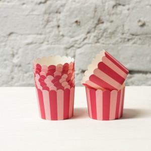 Формочки для капкейков - полоска (розовый)