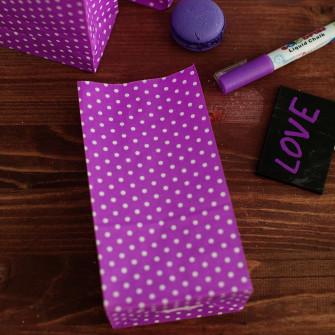 Бумажные пакетики polka dot (фиолетовый)