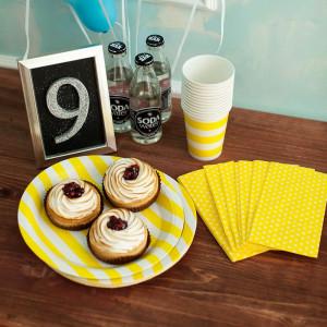Тарелки бумажные (желтый)