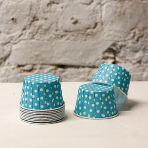 Формочки для капкейков polka dot (голубой)