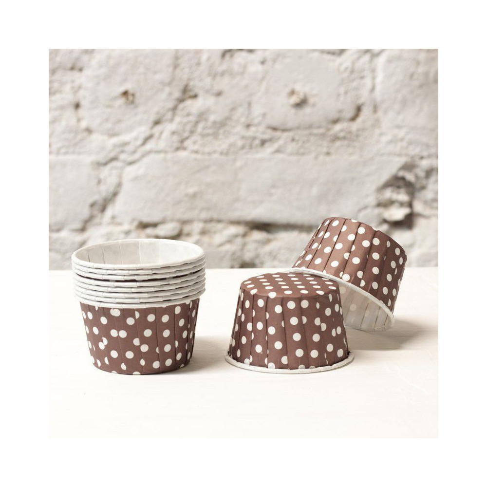 Формочки для капкейков  polka dot (коричневый)
