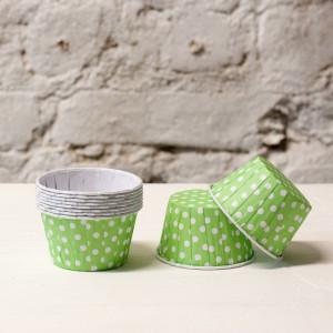 Формочки для капкейков  polka dot (салатовый)