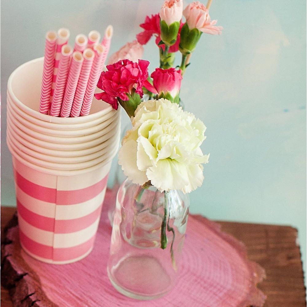Стаканчик бумажный (розовый)