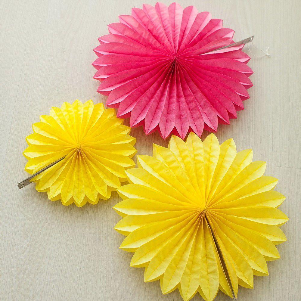 Бумажный веер мини (разные цвета)