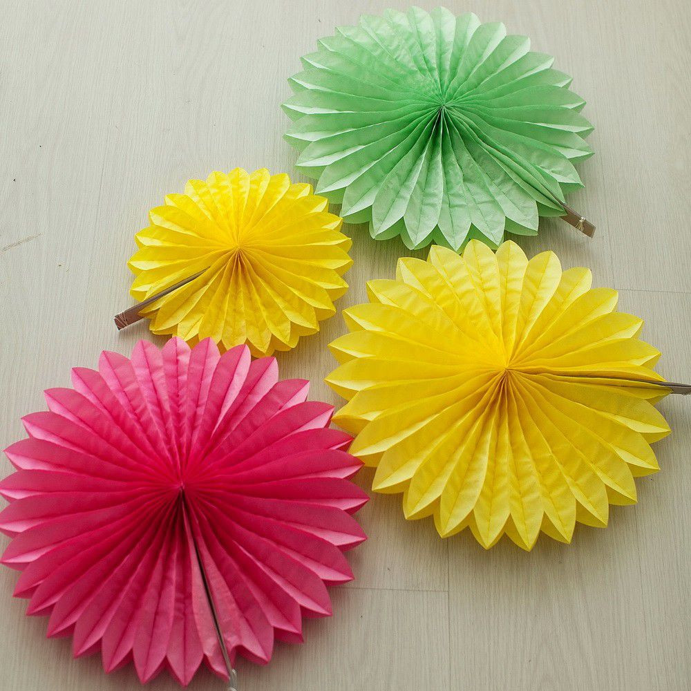 Бумажный веер (разные цвета)