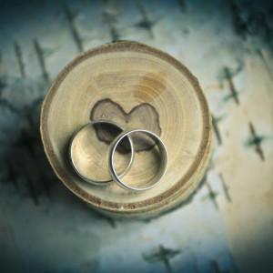 Коробочка для свадебных колец (Еловая)