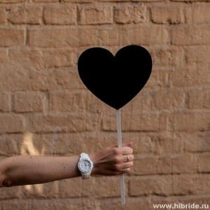 Меловая табличка в аренду - сердце