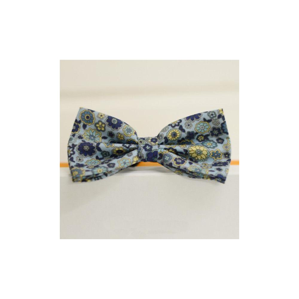 Аксессуар галстук бабочка сине-желтая