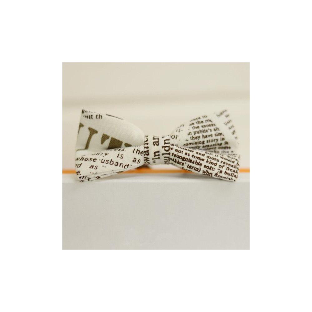 Бабочки галстуки белые с принтом