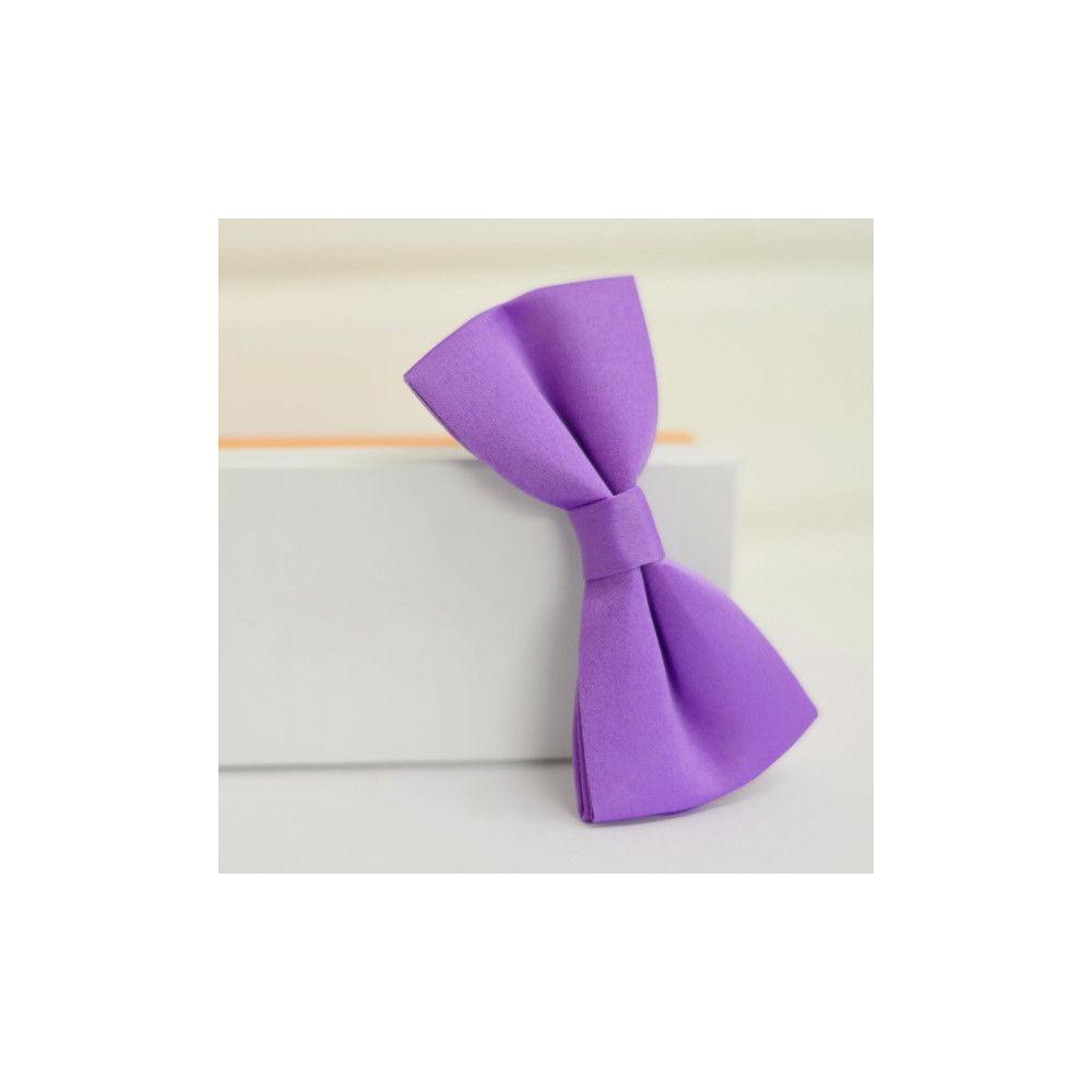 Фиолетовая бабочка галстук