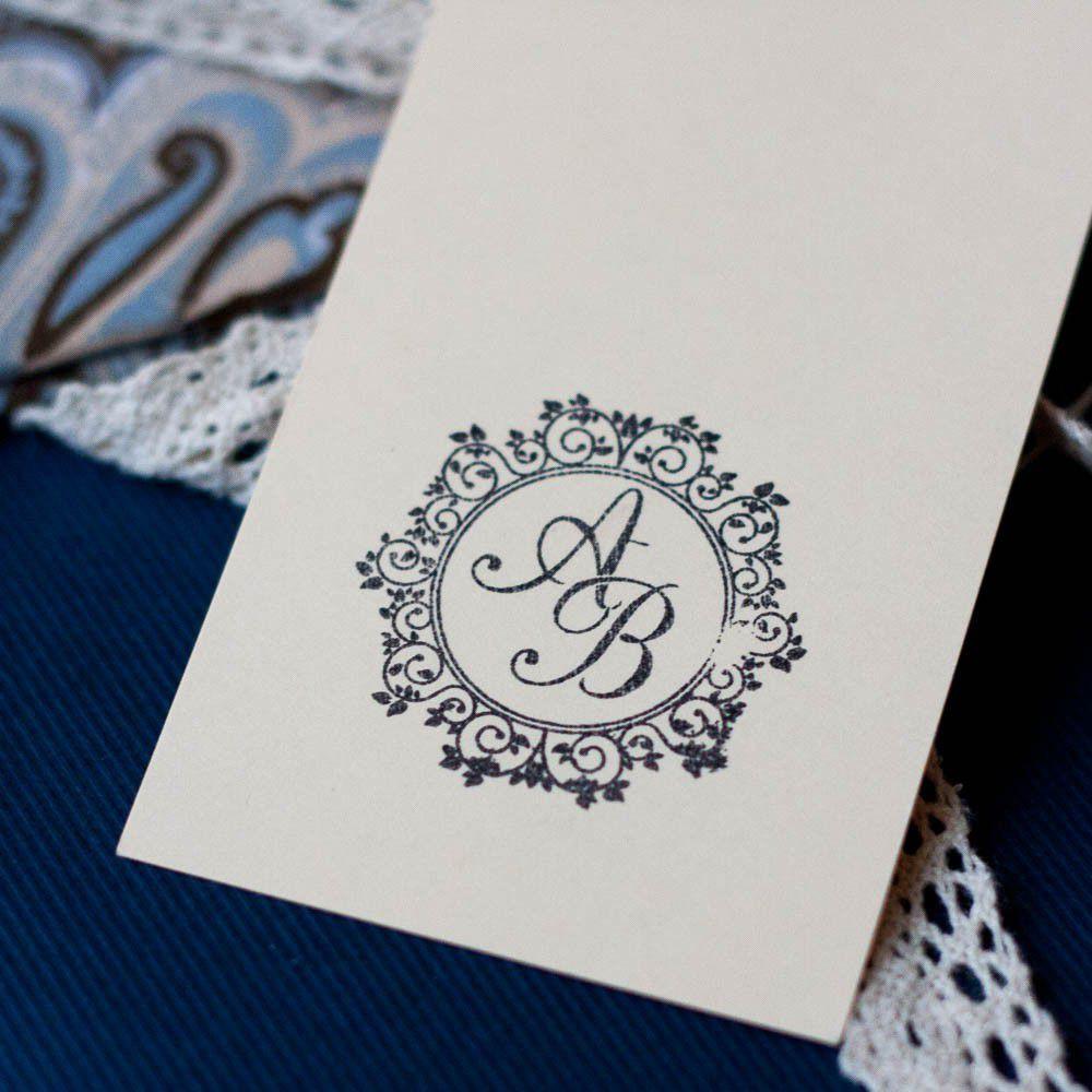 Штамп с днем свадьбы и инициалами