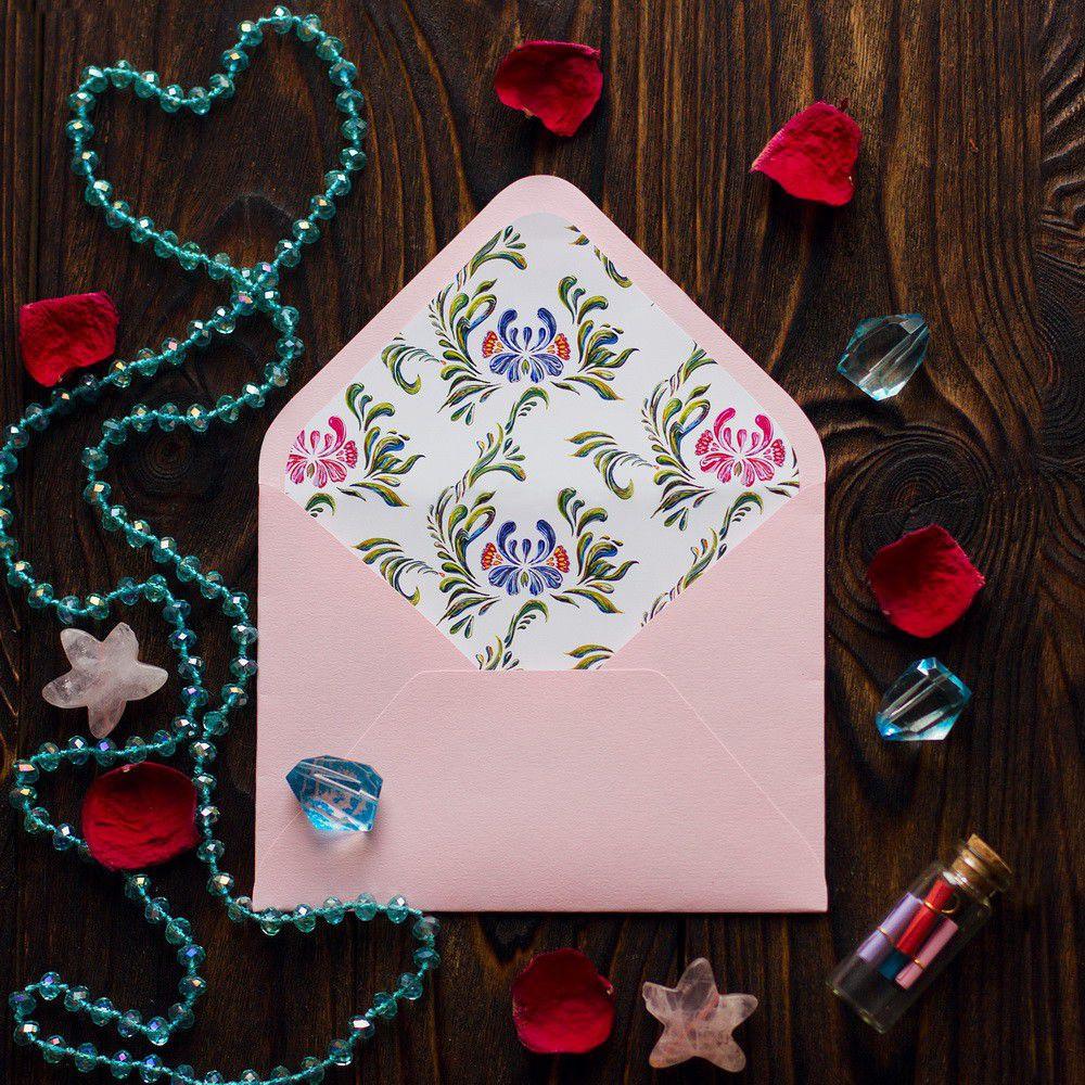Розовый - конверт для приглашения