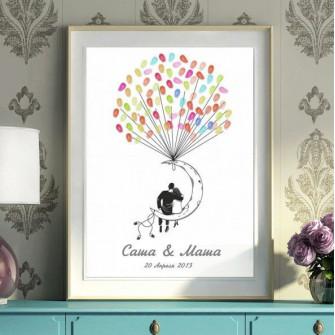 Плакат пожеланий на свадьбу