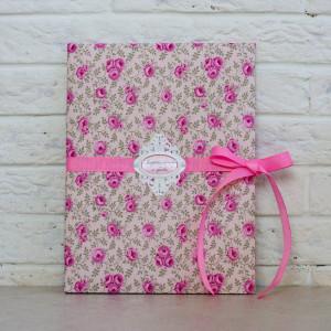 Папка для свидетельства - Розовая