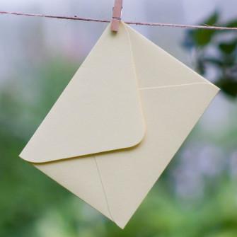 Ванильный - конверт для приглашения