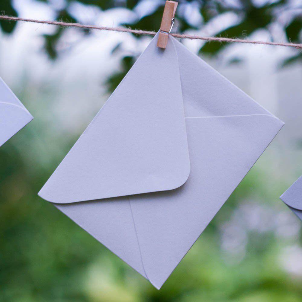 Снежно-серый - конверт для приглашения