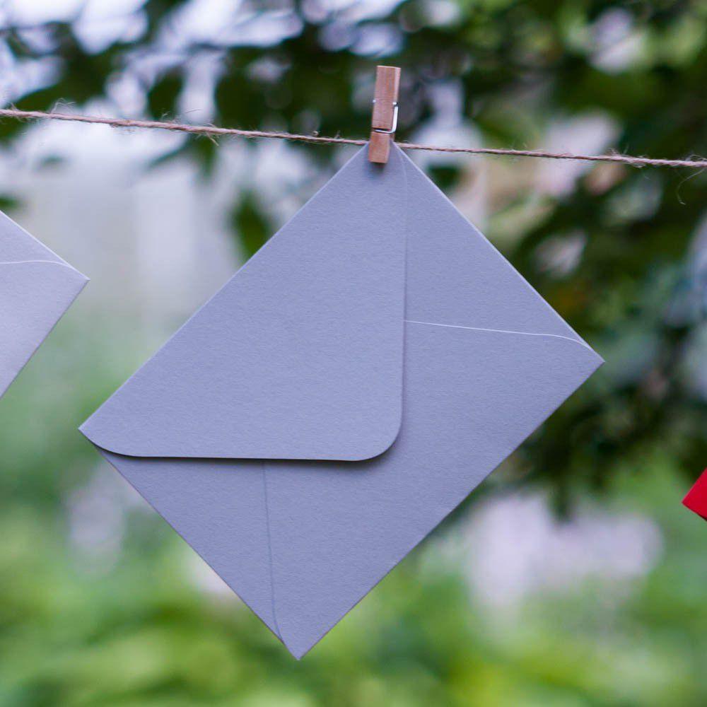 Темно-серый - конверт для приглашения