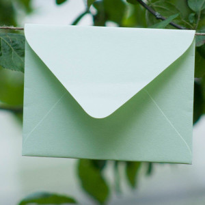 Мятный - конверт для приглашения