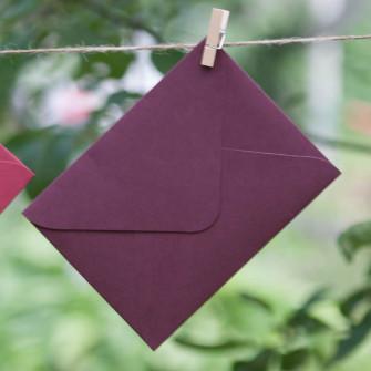 Винный бордо - конверт для приглашения