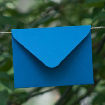 Синий - конверт для приглашения