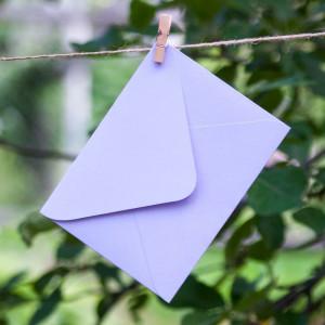 Сирень - конверт для приглашения