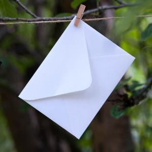 Конверт для приглашения, белый