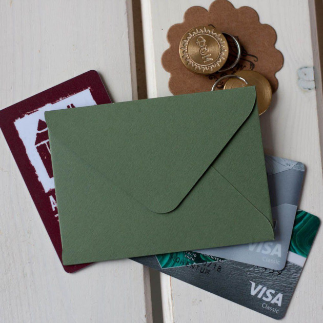 Болотный — конверт для визитки 10х7.5 см