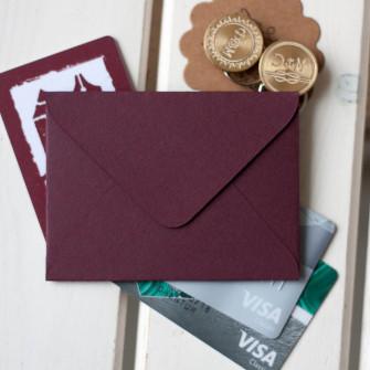 Винный — конверт для визитки 10х7.5 см