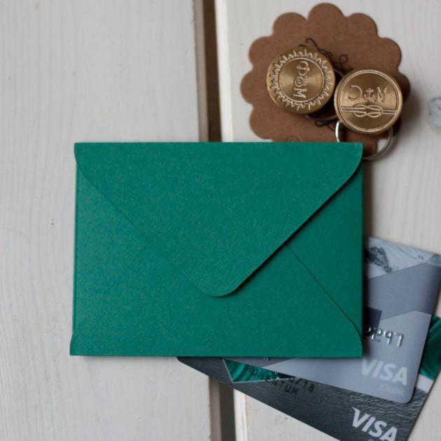 Изумрудный — конверт для визитки 10х7.5 см