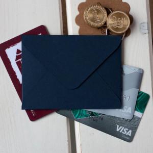 Кобальт — конверт для визитки 10х7.5 см