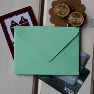 Мятный — конверт для визитки 10х7.5 см