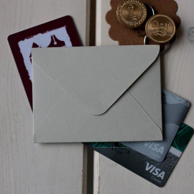 Светло-Серый — конверт для визитки 10х7.5 см