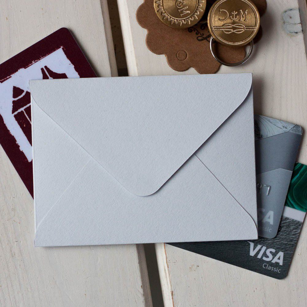 Снежно-серый — конверт для визитки 10х7.5 см