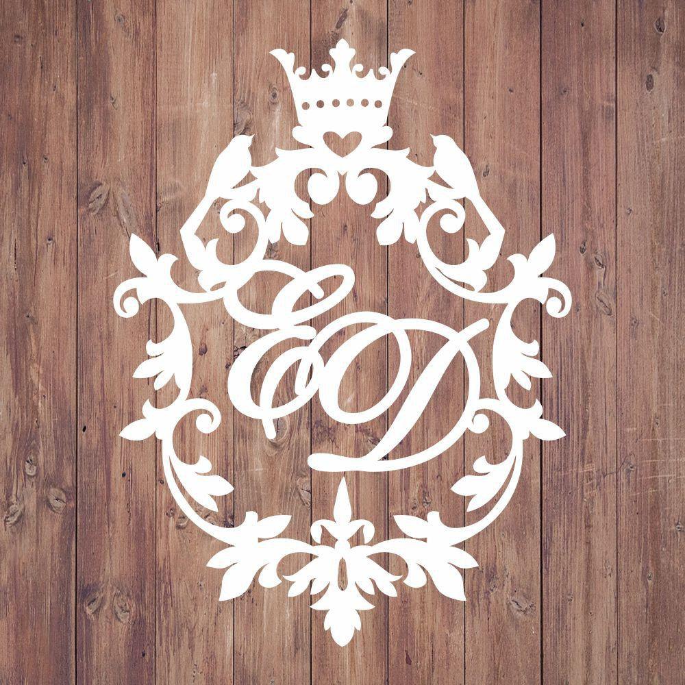 Свадебная монограмма из букв - Вариант 9