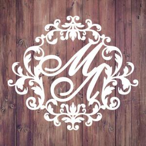 Свадебная монограмма из букв - Вар. 1