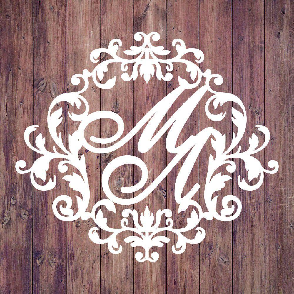 Свадебная монограмма из букв - Вариант 2