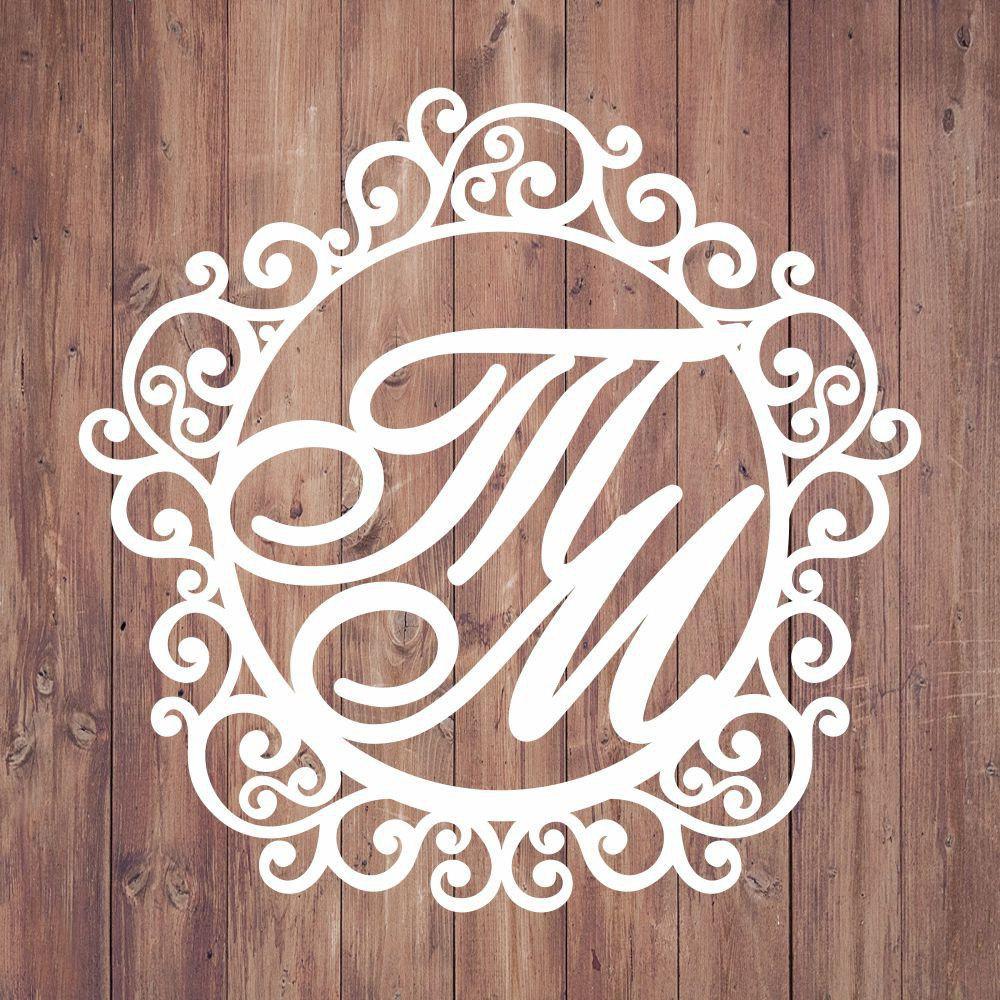 Свадебная монограмма из букв - Вариант 15
