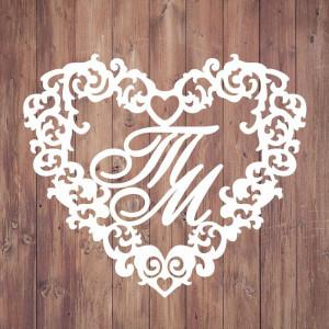 Свадебная монограмма из букв - Вариант 7