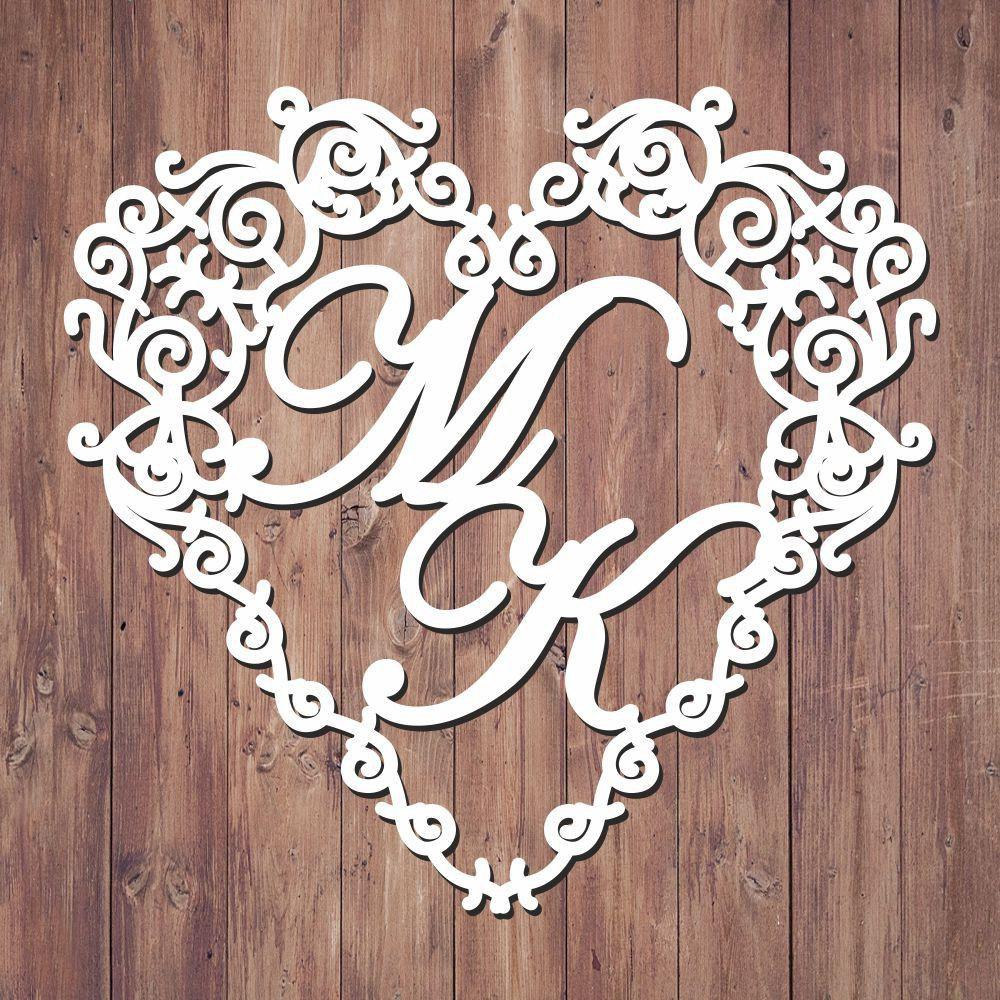 Свадебная монограмма из букв - Вариант 6
